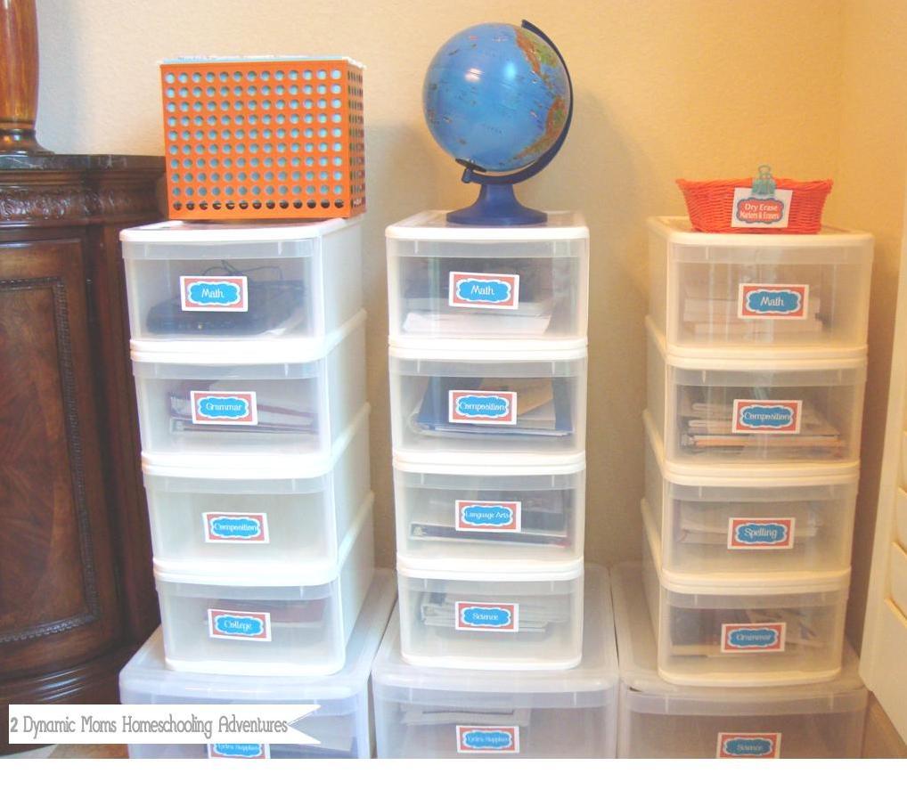 Homeschool Organization | A Bowl Full of Lemons