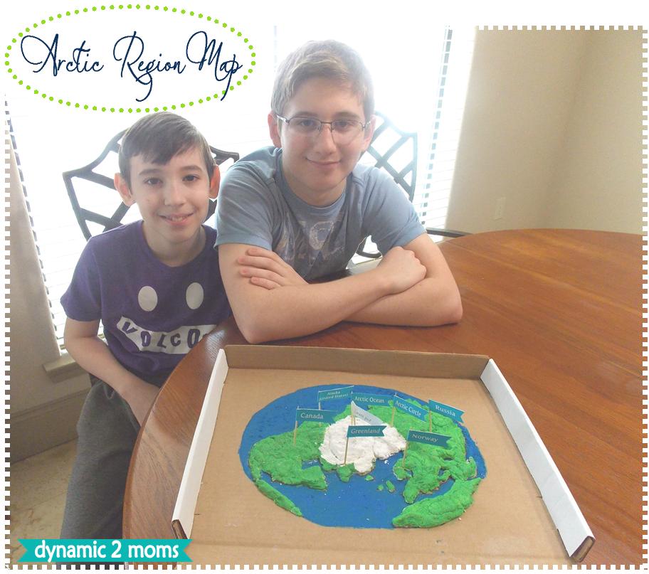 Arctic Region Salt Dough Map + Free Map Flag Printable