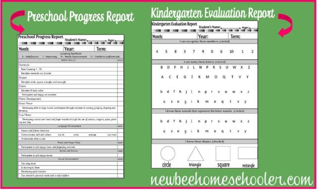 Back for your Planner, Student and Preschool Progress Report and ...