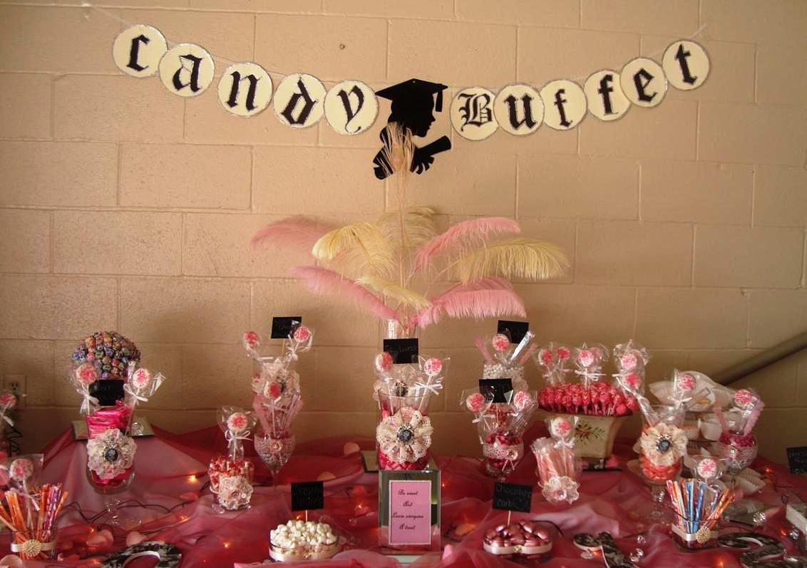 The candy buffet was so beautiful and intricately done. It took me a ...