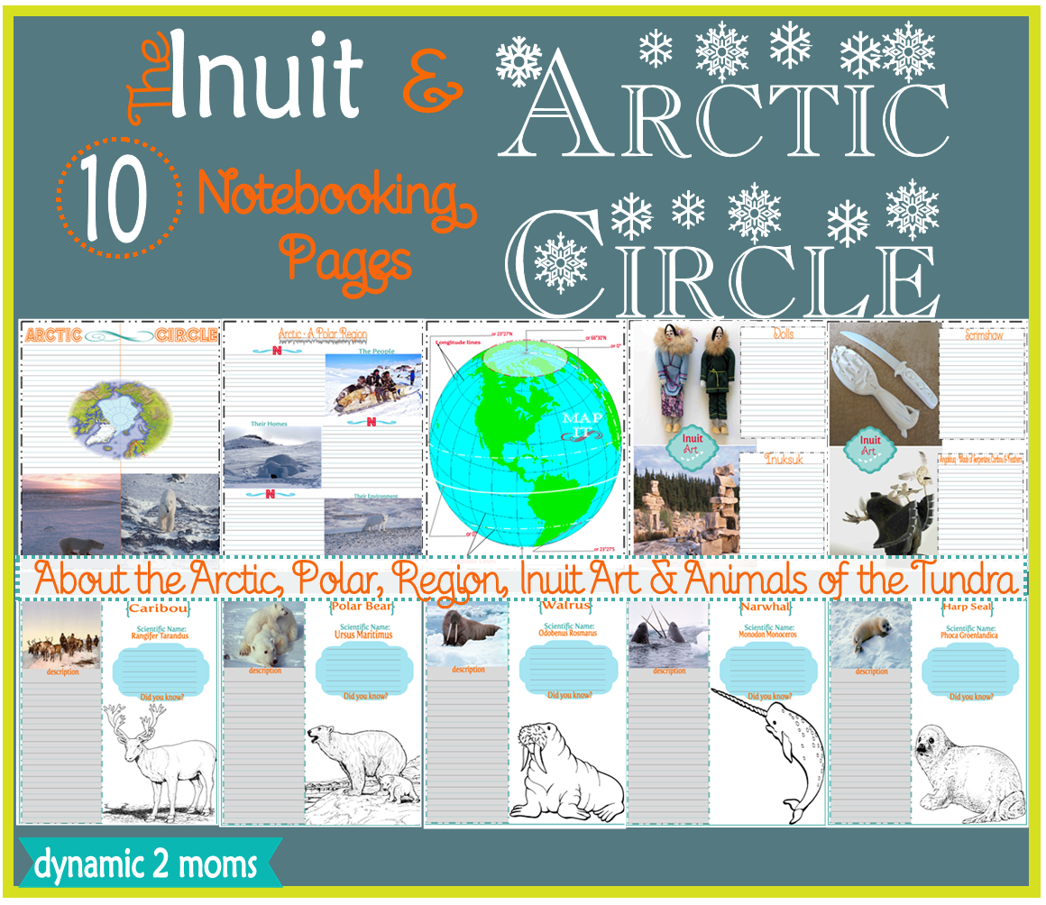 Inuit Art Arctic Circle 10 Notebooking Pages Free Resources