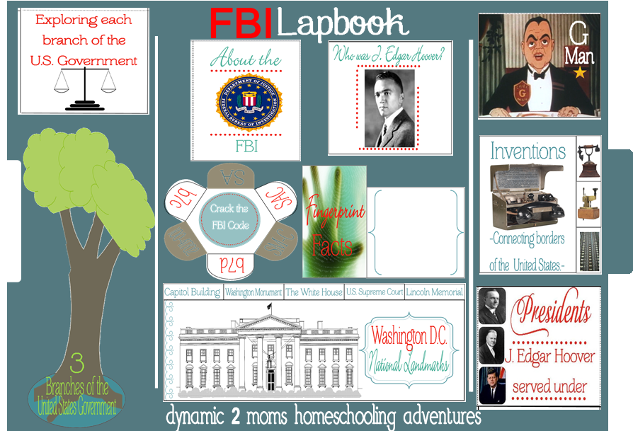 FBI Lapbook | Tina's Dynamic Homeschool Plus