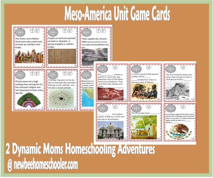 Meso America Unit Game Cards