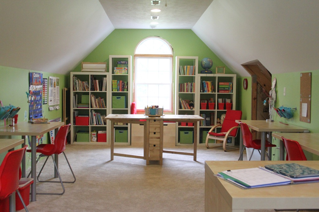 Homeschool organization storage spaces and learning for Home school room ideas