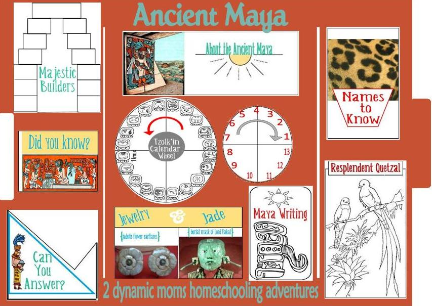 Free Worksheets unit fractions worksheet : Ancient Maya Lapbook and Free Homeschool Unit Study