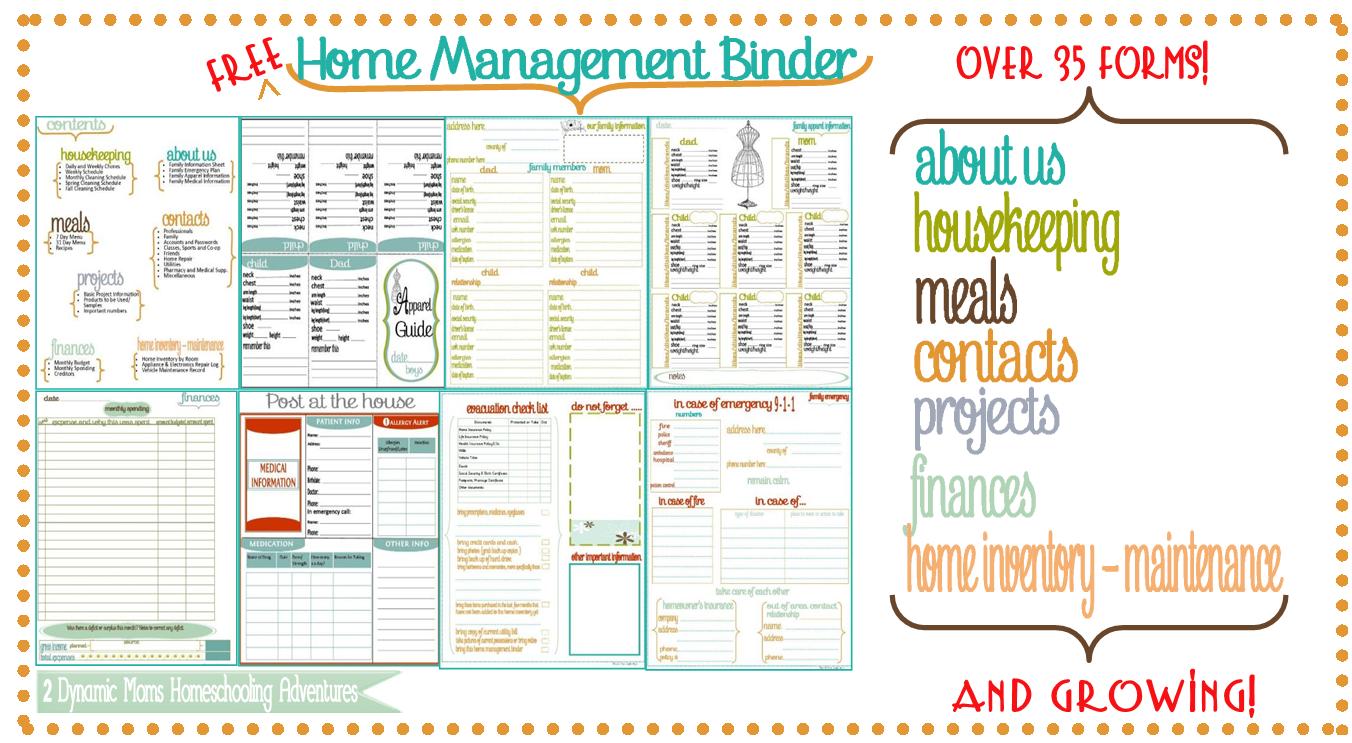 Home Management Binder Website header home management ...